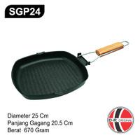 SGP24 Wajan Steak Anti Lengket 24CM / Non Stick Grill Pan
