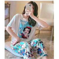 Baju Tidur Import Premium Piyama Set Import Model Korea Lengan Pendek