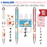 SAILOR HELLO KITTY YUBI MAKIE 3in1 Multifunction Pen & Mechanical Penc