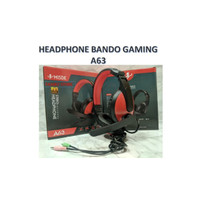 headphone headset henset earphone bando gaming A63 stereo Termurah