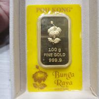 Logam Mulia 100 gram Bunga Raya Poh Kong