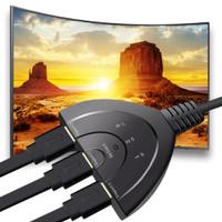 xon kabel HDMI switcher switch cabang 3 port splitter 4k 1080p 3d uhd