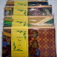 GROSIR souvenir Pernikahan murah dompet batik pouch DIKEMAS