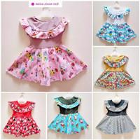 Dress Wynne 1-2 Tahun - DRESS ANAK KERAH RUFFLE - Dress Anak Harian