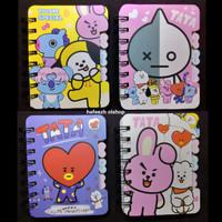 Buku Diary Mini Note Book Notebook BTS BT21