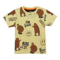 ORKIDS Baju Kaos Anak Bear Skb Yellow Baby
