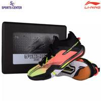 Limited Sepatu Badminton Lining AYAQ009 Pro Saga 2020 F. Orange Red