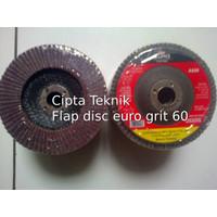 Mata Gerinda Amplas Flap disc euro 4 inchi grit 60
