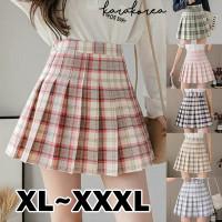 (#8606 XL/XXL/XXXL)Tennis Skirt/Korean Pleated Skirt/Mini Skirt