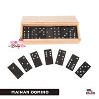 Domino Gaple Kayu 28 pc Mainan Anak Dewasa Board Game Mainan Keluarga