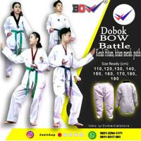 dobok taekwondo seragam baju BOW salur lurus tebal bagus indonesia