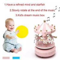 kotak musik unik carousel-music box-kotak musik komedi putar korsel