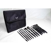 Lumi Professional 12pcs Make Up Brush Set - 12pcs Brush Set Wajah Mata