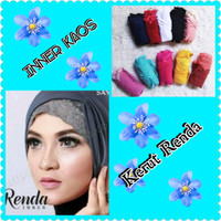 Ciput Rajut Premium Ciput Bandana Inner Jilbab Hijab Kerut Renda