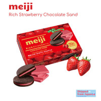 Biskuit MEIJI Rich Chocolate Sand asal Jepang 127gram-Terenak termurah - Rich Strawberry