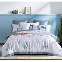 Sprei set Organic Tencel Extra Soft Collection REGALINEN Pesanan 4set - ARIZONA BLUE