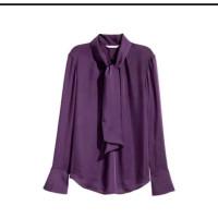 blouse wanita HM with tie office look original branded murah