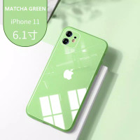 CASE IPHONE TEMPERED GLASS SILICONE EDGE 7 8 PLUS X XS XR 11 PRO MAX - MATCHA, 7 8