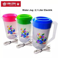 TEKO LISTRIK PLASTIK LION STAR 2,1L/MUG LISTRIK 2,1L SNI