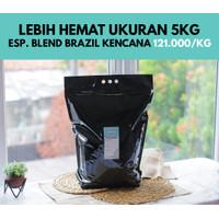 Kopi Espresso Blend Brazil Kencana 5 Kg (Biji/Bubuk)