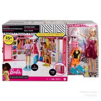 Lemari Baju Barbie Doll Dream Closet Dengan Boneka Blonde Plus 4 baju