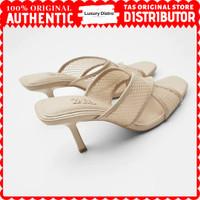 Sandal Heels Zara Original MB300 - Nude, 35