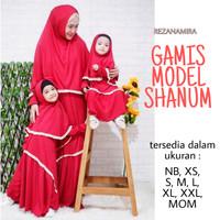 fashion baju muslim syari Jersey set model SHANUM awet lucu terbaru - NB