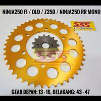 GIRSET SSS NINJA250 FI / Z250 / RR MONO 520 GOLD, RANTAI GOLD RO/ORING - Gold