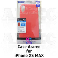Case Araree for iPhone Xs Max Typoskin Red
