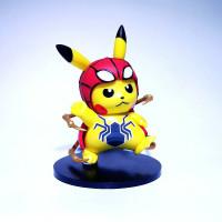 Action Figure Pokemon Pikachu Cosplay Spiderman - Mainan Anak koleksi