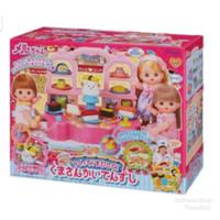 Rumah Restoran Boneka Mell Chan Meja Berjalan Conveyor Belt Sushi Doll