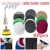 """Disc Pad Amplas Velcro 1"""" Polishing Mini Grinder Dremel 60pc *WB41"""