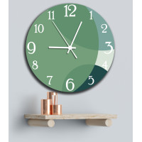 JAM DINDING CUSTOM ABSTRAC STYLE GREEN COLORS