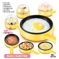 Panci Elektrik Frying Pan Egg Boiler Pancake Masak Masakan Multifungsi