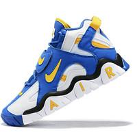 sepatu nike air barrage mid white blue