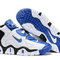 Sepatu Nike air barrage mid putih benhur