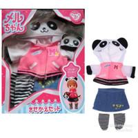 Baju Boneka Mell Chan Panda Jacket Jaket dengam Hoodie