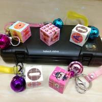 Gantungan Kunci Magic Cube Rubik 3x3 Stickerless Moyu