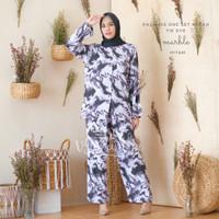 Pajamas / Piyama One Set Kemeja Tie Dye Marble