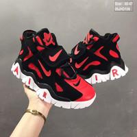 sepatu Nike air barrage mid red black