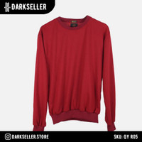 Sweater Polos Basic High Quality Distro Red