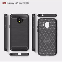Case For Samsung Galaxy J2 Pro 2018 Premium Softcase iPAKY Carbon