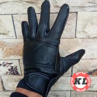 Sarung tangan kulit asli garut,sarung tangan motor KLG-012 - Hitam, S