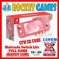 Nintendo Switch Lite CFW Full Game Coral