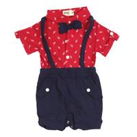 Baby Boy Red Jumper - MOEJOE