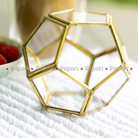 Kotak Perhiasan Kaca Cincin Ring Bearer Wadah Box Terrarium Mini