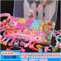 PROMO !! Mainan edukatif anak meronce merangkai manik beads