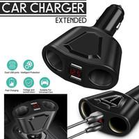 Car Cigarette Lighter Socket Splitter 3.1a Dual USB Charger Extended
