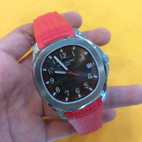 Jam Tangan Patek Philippe Aquanaut Red Silver Best Edition