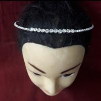 Kalung Hairpiece Choker Mata Zircon Simpel